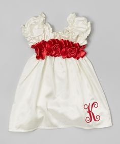 Look at this #zulilyfind! Cream & Red Sweetie Pie Dress - Infant & Toddler by Caught Ya Lookin' #zulilyfinds