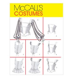 Elegant Image of Corset Sewing Pattern Corset Sewing Pattern Mccalls 4107 Sewing Pattern Corset Renaissance Medievil Halloween Corset Sewing Pattern, Bodice Pattern, Mccalls Sewing Patterns, Simplicity Sewing Patterns, Top Pattern, Vintage Sewing Patterns, Dress Sewing, Sewing Clothes, Diy Clothes