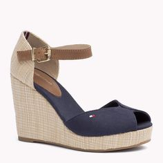 Tommy Hilfiger Mixed Wedge Sandal Heels