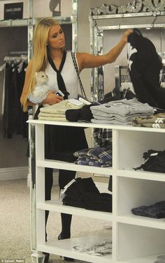 Paris Hilton shopping Happiness at Kyle by Alene Too in Beverly Hills, CA