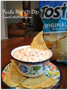 Today's recipe is a quick and easy dip that only has 4 ingredients!         Perfect for the big game this Sunday. FIESTA RANCH DIP, a...