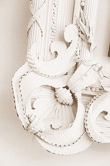 cardboard frame.