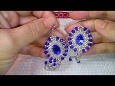 (26) Video creazioni per dei contest e ultima mia creazione - YouTube Seed Bead Jewelry, Seed Bead Earrings, Diy Earrings, Earrings Handmade, Beaded Jewelry, Handmade Jewelry, Beaded Chocker, Beaded Earrings Patterns, Diy Jewelry Tutorials
