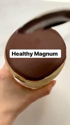Healthy Deserts, Healthy Sweets, Vegan Desserts, Healthy Snacks, Fun Baking Recipes, Keto Recipes, Healthy Recipes, Magnum Ice Cream, Healthy Ice Cream