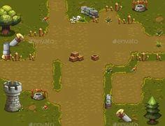 Plain Land Tileset — Photoshop PSD #map #tile • Available here → https://graphicriver.net/item/plain-land-tileset/18049935?ref=pxcr