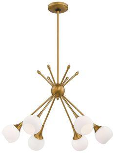 Drexler 6 Light Sputnik Chandelier FixturesDining Room
