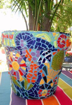 fiestaware flower pot by mary ann