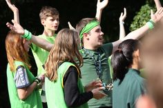 There's so much team spirit oozing out of this photo! Summer camps are a wonderful place to get so involved in activities... 'we were too busy having fun to realise we were making memories!'