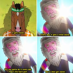 Finished W5D1! This scene from Bojack Horseman keeps me motivated #C25K #everymomentcounts #running #run #health #fitness #GetRunning #workout #5k