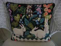 Claire Murray needlepoint pillow