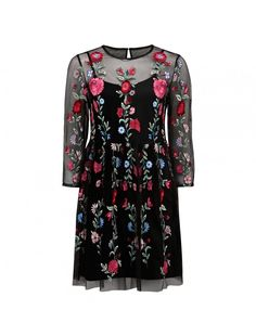 Katie Embroidered Mesh Dress Black Embroidered - Womens Fashion | Forever New