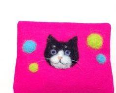 【値下げしました!】羊毛フェルト 猫ちゃんティッシュケース