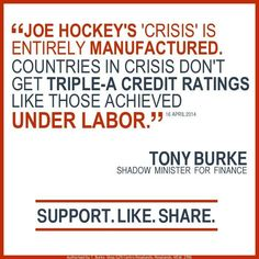 Hockey doubled the deficit in a few months so he could pretend there was a crisis. #auspol pic.twitter.com/UCzVnLoxRw