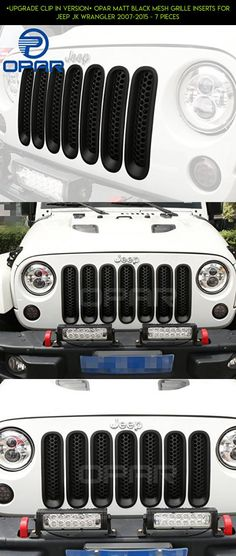 [Upgrade Clip in Version] Opar Matt Black Mesh Grille Inserts for Jeep JK Wrangler 2007-2015 - 7 Pieces #camera #drone #plans #parts #fpv #tech #grills #products #shopping #jeeps #gadgets #racing #kit #technology