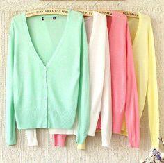 pastel sweaters