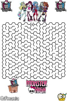 Printables Free Monster High Printable Activities watzit images activities activity books and monster high the mazes pages called maze from website is a flash puzzle that you can complete for free without installing anyth