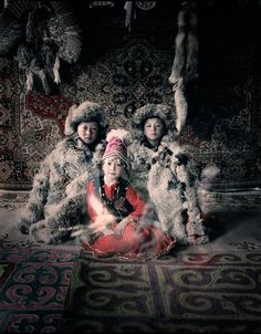 The Kazakhs are the descendants of Turkic, Mongolic and Indo-Iranian tribes and Huns that populated the territory between Siberia and the Black Sea. They are a semi-nomadic people and have roamed the mountains and valleys of western Mongolia with their herds since the 19th century.
