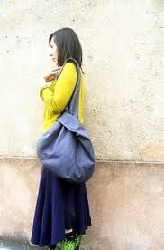 crossbody Japanese bag knot bag - PHOTO