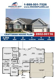 Fall in love with this charming Craftsman design, Plan 2802-00116 delivers 2,254 sq. ft., 3 bedrooms, 2.5 bathrooms, a mud room, a formal living room, and a kitchen island. Visit our website for more details about this Craftsman design. Craftsman Style Homes, Craftsman House Plans, Floor Plan Drawing, Basement Layout, Floor Framing, Construction Cost, Floor Layout, Best House Plans, Build Your Dream Home