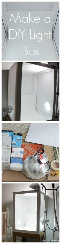Make a DIY Light Box or Light Tent - www.simpleispretty.com