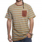 Camiseta Santa Cruz: Special Tee Clifftop Caramel Stripe BR
