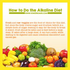 How to Do the Alkaline Diet http://www.ionizeroasis.com/blog/how-to-do-the-alkaline-diet/