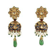 A Pair Of Diamond Jhumka Earrings, North India 19th Century