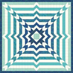 Time Warp – Blue Pre-Cut Another easy to assemble quilt with a look that will take you back or move you forward. Quilt measures but can easily be increased to a queen with jus Scrap Quilt, 3d Quilts, Jellyroll Quilts, Patchwork Quilting, Barn Quilts, Mini Quilts, Quilting Projects, Quilting Designs, Sewing Projects