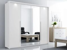 The Brema Mirrored Sliding Door Wardrobe is a new arrival with exceptional design and craftsmanship! It boasts the latest in wardrobe technologies with doors that slide to the end with LED lights on the top. White Wardrobe, Mirrored Wardrobe, Modern Wardrobe, Wardrobe With Mirror, Wardrobe Design Bedroom, Bedroom Decor, Bedroom Furniture, Clothes Drawer Organization, 3 Door Sliding Wardrobe