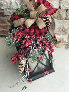 [orginial_title] – Frieda Johnston XL Large christmas lantern swag, winter lantern swag, woodland holiday decor, rustic lantern swag, f Vintage Decor Rustic XL Large christmas lantern swag winter lantern swag holiday Christmas Porch, Burlap Christmas, Country Christmas, Christmas Crafts, Christmas Holidays, Christmas Door Wreaths, Homemade Christmas, Christmas Florida, Artificial Christmas Wreaths