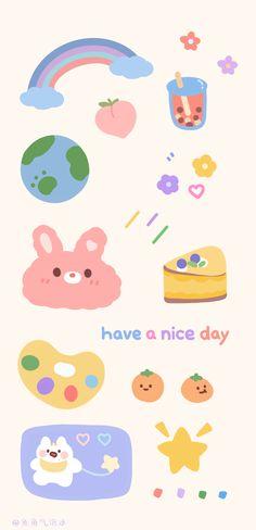 Soft Wallpaper, Cute Anime Wallpaper, Wallpaper Iphone Cute, Aesthetic Iphone Wallpaper, Cartoon Wallpaper, Cute Wallpapers, Printable Stickers, Cute Stickers, Cute Journals