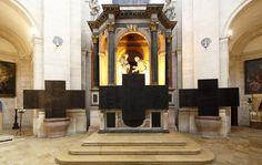 Cécile Marie, Polyptyque de troix croix exposé au musée d'art sacré de Dijon en 2013