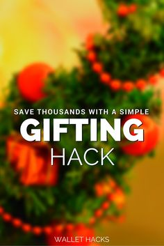 Why are the holidays so darn stressful? You'd think that having a few days off, spending time with family and friends, and stuffing yourself full of food and drink would be awesome, right? It is and it isn't. It isn't that awesome because of the stress surrounding the holidays - and it's mostly about gifts. Learn the clever gifting hack everyone is using to save money on gifts this holiday.