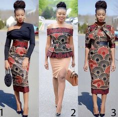 One print, One beautiful Ankara chic, and three gorgeous styles by 🔥🔥🔥. Which is your preferred look? 2 or 3 Latest Ankara Short Gown, Ankara Short Gown Styles, Short Gowns, Latest African Fashion Dresses, African Print Dresses, African Print Fashion, African Dress, Ankara Fashion, African Attire