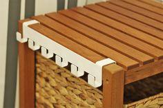 Molger Regal mit Hakenleiste/Handtuchhalter HOLGER in weiß