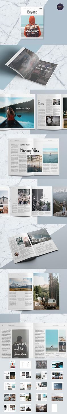 #magazine #design from Ally & Co. | DOWNLOAD: https://creativemarket.com/allyandco/547109-Beyond-Magazine?u=zsoltczigler