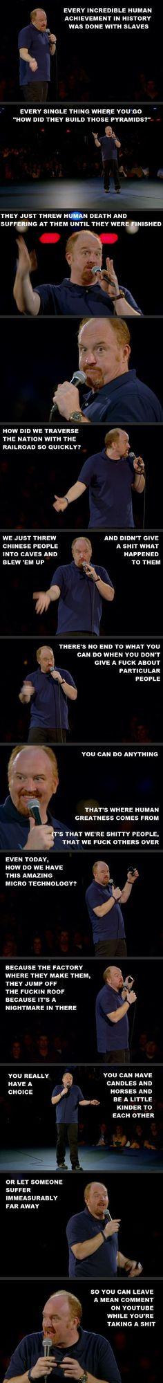 Louie Louie Louie yeeeeeeh  comedy smart right here.