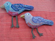 Hooked birds by Mary Stanley