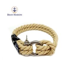 Marine Nautical Bracelet by Bran Marion Nautical Bracelet, Nautical Jewelry, Marine Rope, Azul Real, Everyday Look, Handmade Bracelets, Jewelry Collection, Royal Blue, Your Style