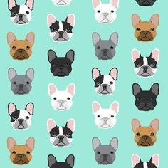 French Bulldogs french bulldog mint sweet dog puppy puppies dog lovers frenchie owners crafts fabric by petfriendly on Spoonflower - custom fabric