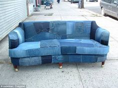 Best 25 Denim Sofa Ideas On Pinterest Blue Couches