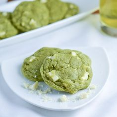 These white chocolate green tea matcha cookies are made with matcha and white chocolate chunks. They turned out very soft and chewy.