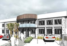 Commercial Gallery Architects, Maine, Multi Story Building, Commercial, Gallery, Roof Rack, Building Homes, Architecture