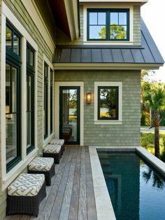petite piscine hors sol, maison coquette et petite piscine hors sol