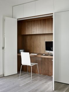 Top 100 Modern Home Office Design Trends 2017 - Small Design Ideas Home Trends home office trends 2017 Modern Home Office Desk, Home Office Storage, Home Office Space, Home Office Design, Home Office Decor, House Design, Office Designs, Modern Desk, Hidden Desk