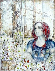 Refuge : mixed media painting by Laly Mille
