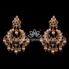 Mesmerizing collection of gold earrings from Kameswari Jewellers. Shop for designer gold earrings, traditional diamond earrings and bridal earrings collections online. Gold Jhumka Earrings, Indian Jewelry Earrings, Gold Bar Earrings, Jewelry Design Earrings, Gold Earrings Designs, Gold Jewellery Design, Gold Jewelry, Buy Earrings, Earrings Online