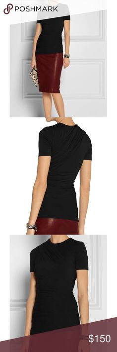 T by Alexander Wang draped jersey top This T by Alexander Wang top is so flattering and beautifully made. The fabric is so soft and luxe and the draping elevates this piece to a closet favorite. It can be worn with any outfit - from casual to formal! Size medium and only worn once. T by Alexander Wang Tops