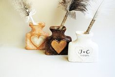 Personalized Pen Holder Wedding pen penholder by Indrasideas, $34.00