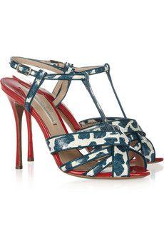 Nicholas Kirkwood Elaphe and patent-leather sandals